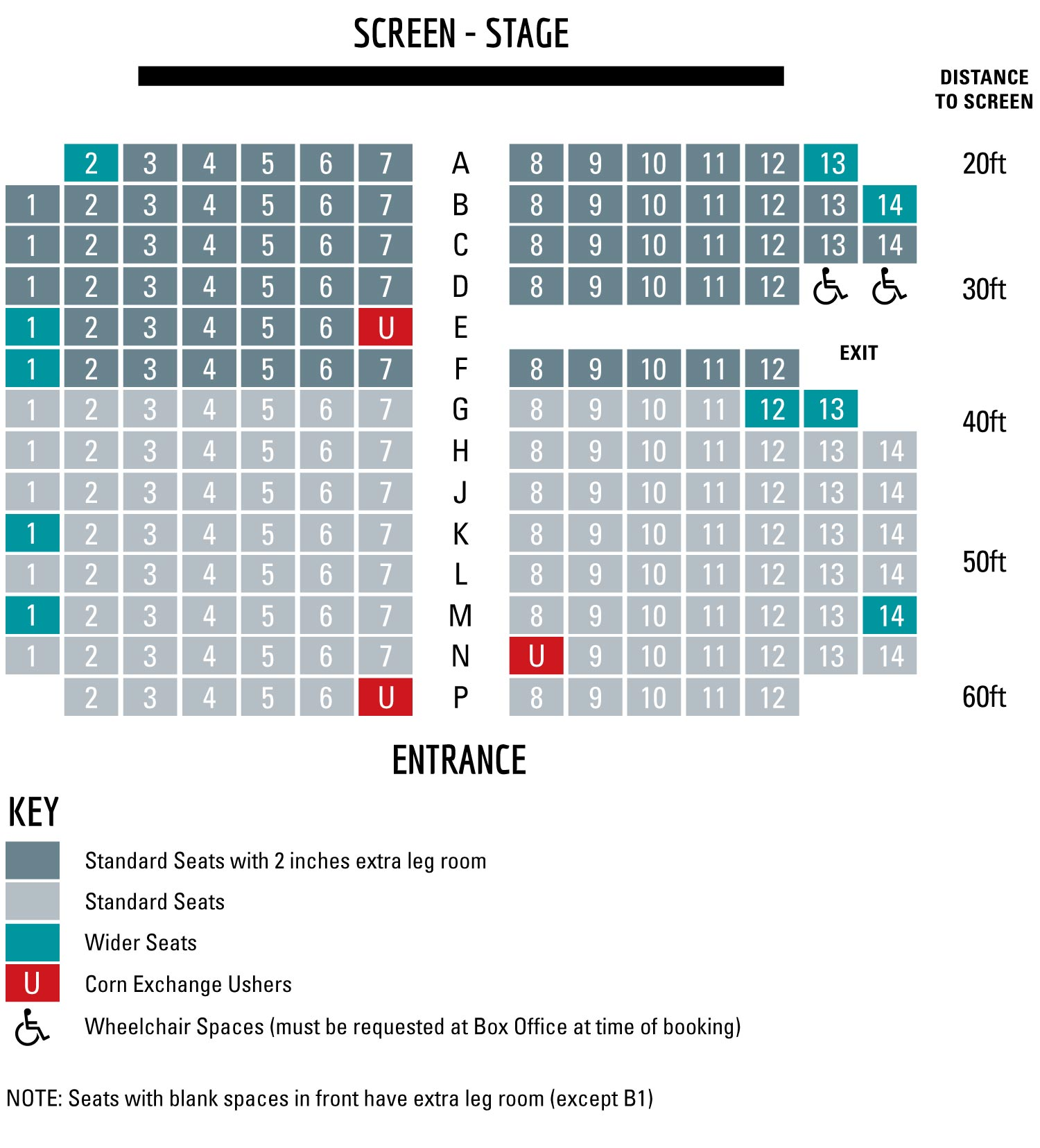 Corn Exchange Seating Plan